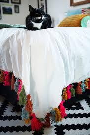 diy blanket diy yarn tassel duvet blanket u2014 freckle u0026 fair recipes diy