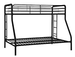 amazon com dhp twin over full bunk bed with metal frame and