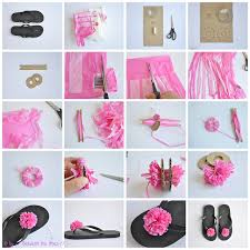 flip flop bag wonderful diy recycled plastic bag pompom flip flops