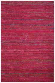 Wool Indian Rugs Red Fuchsia Flat Weave Handcrafted Wool Indian Rug Woodwaves