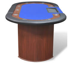 10 player poker table 10 player poker table with dealer area and chip tray blue vidaxl com