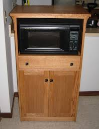 Microwave Storage Cabinet Hand Crafted Microwave Cabinet By Joey U0027s Custom Woodworking
