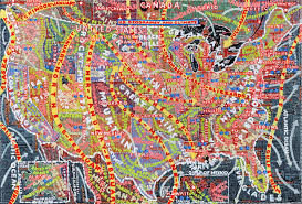 The Map Of America by Paula Scher U0027s Hand Painted Semi Accurate Maps Of America Citylab