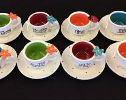 Miniature Tea Cups Favors by Personalized Tea Cup Etsy