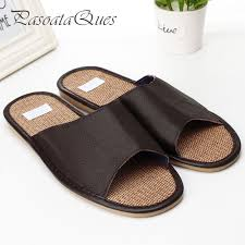 Mens Leather Bedroom Slippers by Compare Prices On Mens Summer House Slippers Online Shopping Buy