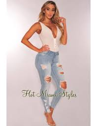 miami hot styles shoptagr light ripped ankle length by hot miami style