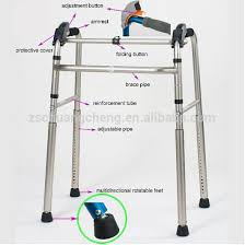 elder walker aluminum disable handicapped frame height adjustable foldable
