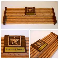 Wall Mounted Nameplate Holders Army 60 Challenge Coin Holder W Engraved Name Plate
