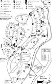 Banff National Park Map This Is A Map Of Watchman Campground In Zion National Park You