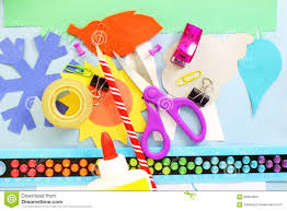 kids craft supplies stock vector image 85805362