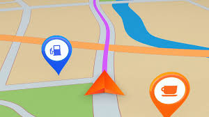 Navigation Map Moving Gps Navigation Arrow On The Map Seamless Loop Motion