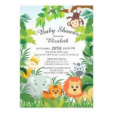 jungle baby shower jungle theme baby shower invitations sempak b641c4a5e502