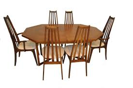 danish modern dining room furniture danish modern dining table with six 6 koefoed style tall back
