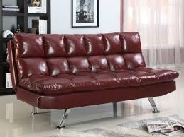 Modern Tufted Leather Sofa by Sundown Wine Armless Adjustable Sofa Bed 5250 Wn Seaboard