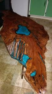 live edge table with turquoise inlay live edge walnut slab table inlaid with epoxy woodworking talk