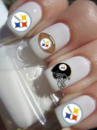 steelers football nail decals by pinegalaxy on etsy 4 50 my