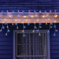 sylvania 300 light clear and blue icicle lights shopko