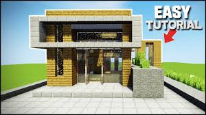 minecraft how to build an easy modern house best house tutorial