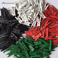 aliexpress com buy 1000 x handmade mini wooden clothespins red