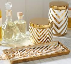 Pottery Barn Zig Zag Rug Gold Chevron Accessories Pottery Barn Pertaining To White Bathroom