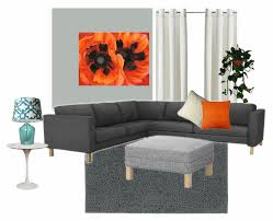 orange and grey living room ideas carameloffers