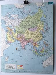 Asia On Map by Vintage 1965 Hammond U0027s World Atlas Map Page Asia On One Side And