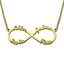 Gold Chain With Name Gold Infinity Name Pendant Personalized Infinity Necklace With