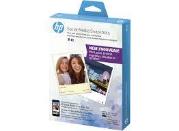 hp social media snapshots removable sticky photo paper 25 sht 4 x