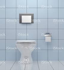 public bathroom design simple toilet on a bathroom design with square tiles stock photo