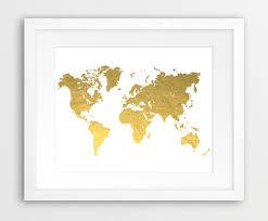 gold world map decal gold world map gold world map decal world map gold printable file silhouette foil throughout