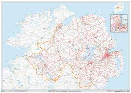 northern map postcode sector map s14 northern wall map xyz maps