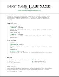 template for a resume simple resume office templates