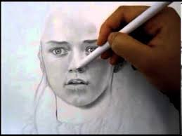 sketching a face with pencil sketching and shading portrait