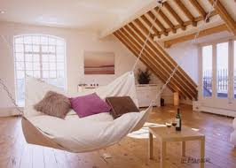 putting a bean bag hammock in a bedroom