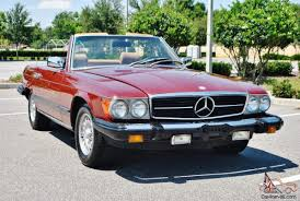 mercedes convertible original just 50ks 1981 mercedes 380 sl convertible simply