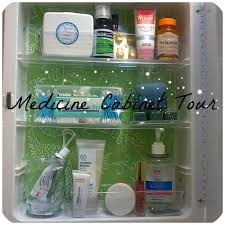 Bathroom Cabinet Organizer by Guest Bathroom Medicine Cabinet Tour Dollar Tree Organizers