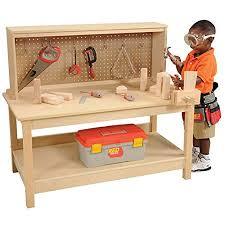 Free Simple Wood Workbench Plans by Amazon Com Wooden Workbench With Vise Toys U0026 Games