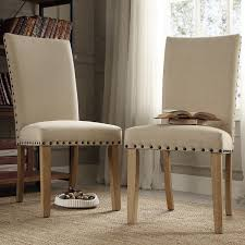 nailhead upholstered dining chairs upholstered parsons dining