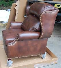 Hancock And Moore Leather Chair Prices H U0026m 1021 Woodbridge Recliner In Capri Tobacco
