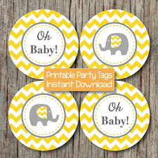 Precious Moments Baby Shower Decorations Yellow Grey Chevron Baby Shower Decorations Printable Party