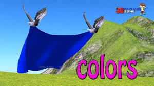 learn colors two birds flying and carrying color cloth color