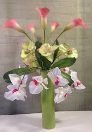 Calla Lily Home Decor Phalaenopis Orchid And Calla Lily Arrangement Calla Lilies