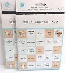 wedding words for bingo bridal shower party bingo cards 24 cards