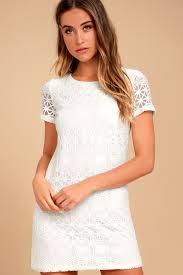 shift dress white dress lace dress shift dress 49 00