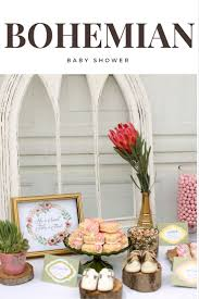 bohemian baby shower and gender reveal 100 layer cakelet party