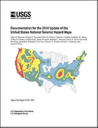 earthquake hazard map usgs open file report 2014 1091 documentation for the 2014 update
