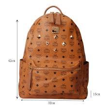 mcm designer mcm large cognac visetos backpack coffee mcm studded backpack