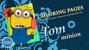 despicable me minion tom coloring pages youtube