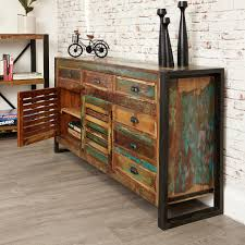 Reclaimed Sideboard Bonsoni New Baudouin Large Sideboard Shabby Chic Vintage Reclaimed