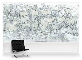 paul montgomery wallpaper equus mural wallpaper